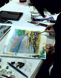 Anse Sotiralis in the Mixed Media course